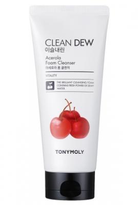 Пена для умывания с ацеролой TONY MOLY Clean dew acerola foam cleanser 180 мл: фото