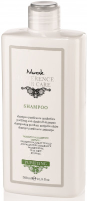 Шампунь специальный для кожи головы, склонной к перхоти NOOK Difference Hair Care Shampoo Purificante Antiforfora Ph5,5 500 мл: фото