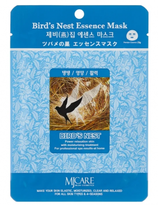 Маска тканевая ласточкино гнездо Mijin Bird`s Nest Essence Mask 23гр: фото