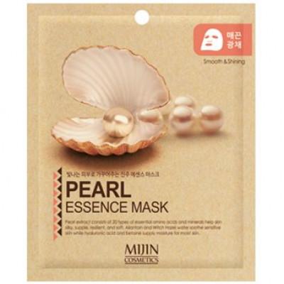 Маска для лица тканевая жемчуг Mijin PEARL ESSENCE MASK 25г: фото