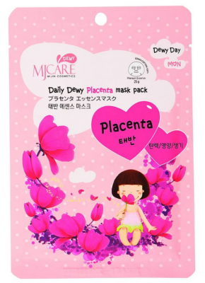 Маска тканевая с плацентой Mijin Care Daily Dewy Placenta mask pack 25г: фото