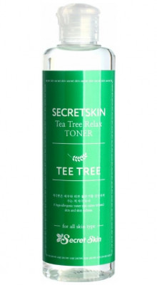 Тонер для лица с экстрактом чайного дерева Secret Skin Tea Tree Relax Toner 250мл: фото