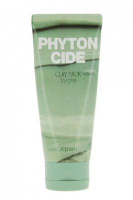 Маска-пенка для умывания A'PIEU Phytoncide Clay Pack To Foam 100г: фото