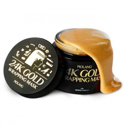 Маска для лица с 24 каратным золотом ESTHETIC HOUSE PIOLANG 24k GOLD WRAPPING MASK 80 мл: фото