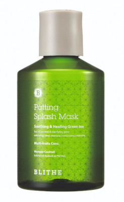 Сплэш-маска восстанавливающая BLITHE Patting Splash Mask Soothing & Healing Green Tea 150 мл: фото