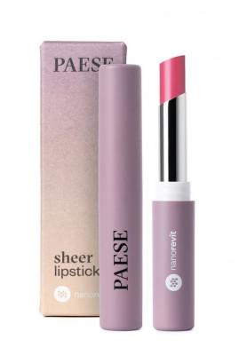 Помада-блеск PAESE SHEER LIPSTICK NANOREVIT 31 Natural Pink: фото