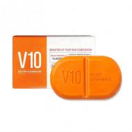 Очищающее мыло с витаминным комплексом SOME BY MI V10 MULTI VITA CLEANSING BAR 106г: фото